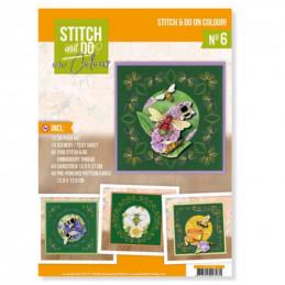 Stitch and Do on Colour 006 - Kit Carte 3D à broder de couleur Les abeilles