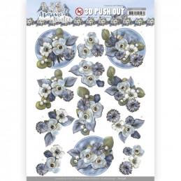 Carterie 3D prédéc. - SB10598 - Awesome Winter - Fleurs d'hiver