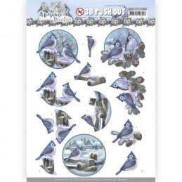 Carterie 3D prédéc. - SB10600 - Awesome Winter - Oiseaux d'hiver
