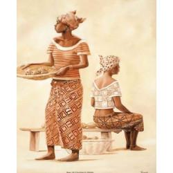 image pour tableaux 3D 30x30 cm référence 2000465 2 africaines