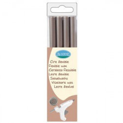PACK 4 BATONS CIRE FLEXIBLE RONDS ARGENT