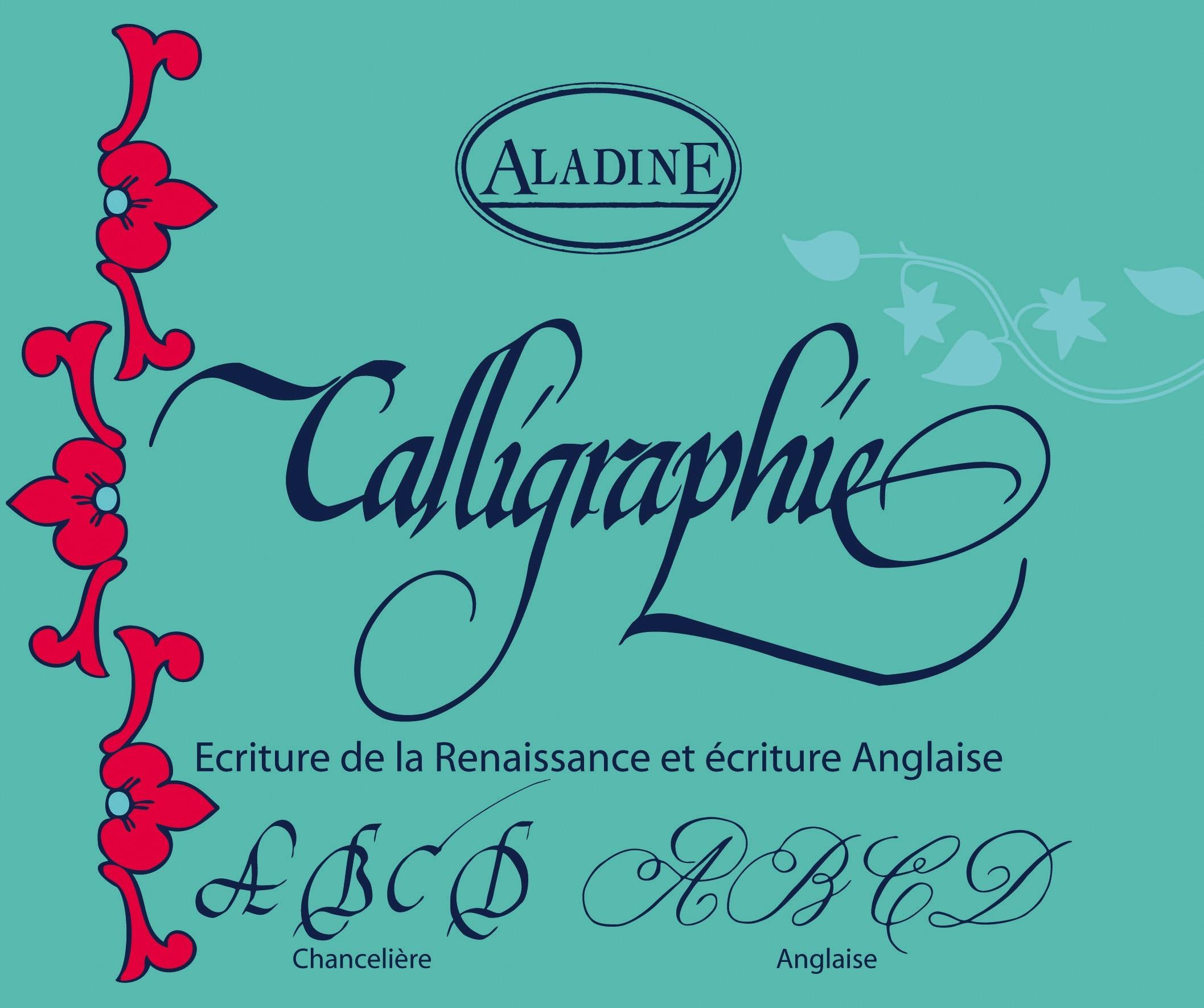 Cahier De Calligraphie Anglaise Aux Bleuets