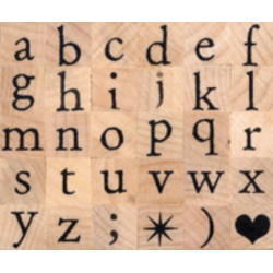 Set alphabet antique minuscule