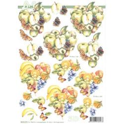 Carte 3D à découper -  fruits