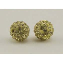 Perle shamballa 12 mm  lime