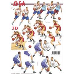 Carte 3D à découper - basket