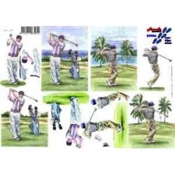 Carte 3D à découper -  golf