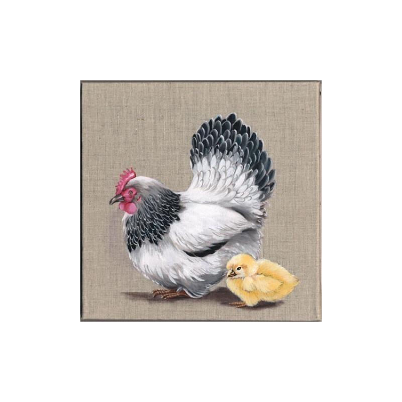 Image 3d gk3030023 30x30 poule poussin - Photos poules rigolotes ...