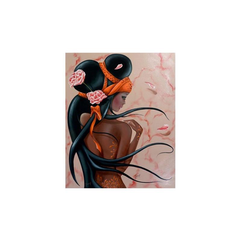 Image pour tableaux 3D - LILOU BLACK - 40X50 - GK4050018 - Aux Bleuets Loisirs créatifs à Reims