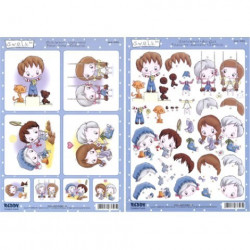 Carterie 3D Prédécoupée A4 - 83303 - Recto/verso swalk fond bleu