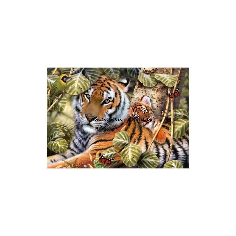 Image pour tableau 3D format 30x40 cm GK3040004 Tigre