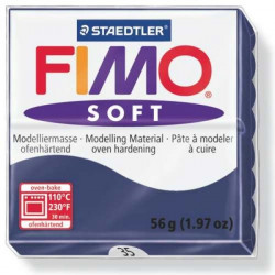 Pâte Fimo soft bleu windsor n°35