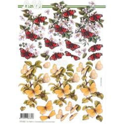 Carte 3D à découper -  papillons