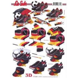 Carte 3D à découper -  foot allemagne