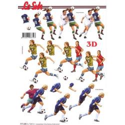 Carte 3D à découper -  football féminin