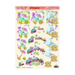 Carte 3D à découper -  n°830