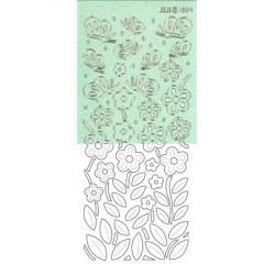 Stickers fleurs papillon...
