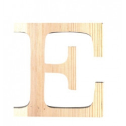 Lettre en bois petit modele E 11,5cm