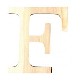 Lettre en bois petit modele F 11,5cm