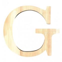 Lettre en bois petit modele G 11,5cm