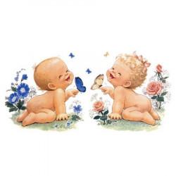 Image 3D - N312 - 24x30 - bébés et papillon