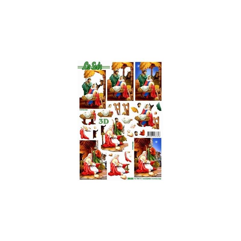 Carte 3d Predec Creche De Noel Aux Bleuets