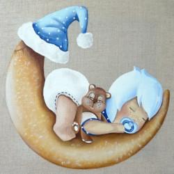 Image pour tableau 3d GK3030027 -  format 30x30 cm  Lilou bébé garçon