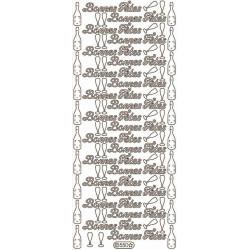 Stickers - 0550 - bonnes fetes - argent