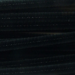 20 brins chenilles ø 6mm noir
