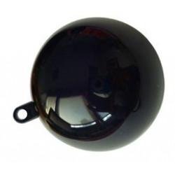 Boule plastique cristal noir 8 cm