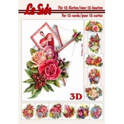 Carte 3D 3D livret A5 - 12cartes - décoration de noël