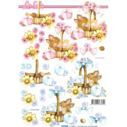 Carte 3D à découper -  naissance - 777530