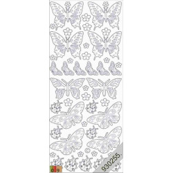 Stickers - 0818 - papillon - or