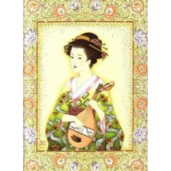 Image 3D - OR 56 - 24X30  - Chinoise avec mandoline  -  Aux Bleuets Loisirs créatifs à Reims