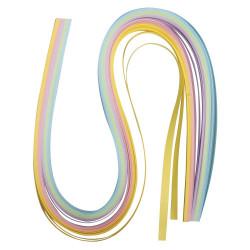 Papier pour quilling, pastel, 50x0,6cm 100 p.