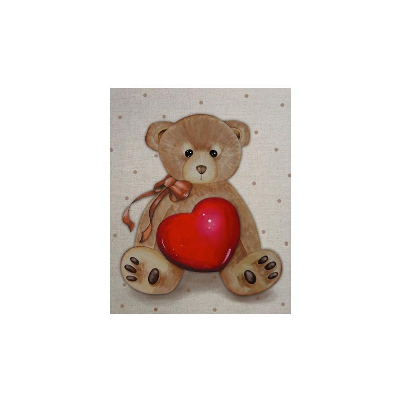 Image pour tableaux 3d format 24x30 cm Coeur d'Ours 2430043