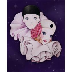 Image pour tableau 3D - Format 24x30 cm GK2430036 Pierrot et Colombine