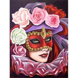 Image pour tableaux 3D format 30x40 cm Masque de venise GK3040036