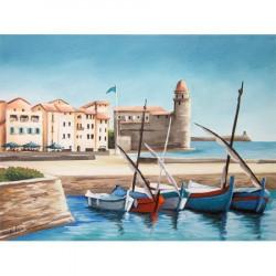 Image pour tableau 3D Paysage de Collioure format 30x40 cm