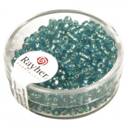 Rocailles,2,6 mm ø., turquoise, boîte 16 g