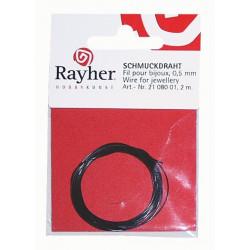 Fil pour bijoux 0.5 mm noir