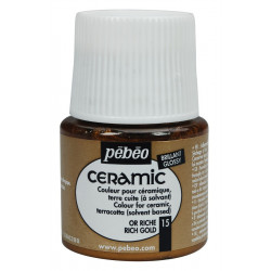 Peinture Céramic flacon de 45ml or riche