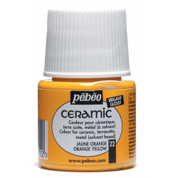 Peinture Céramic flacon de 45ml jaune orange