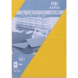 Artoz Carte Double A6 210X148 mm Paquet de 5 - Jaune soleil