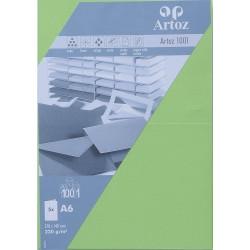 Carte double A6 210x148 paquet de 5 - vert bouleau