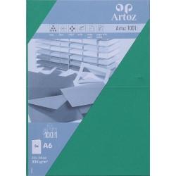 Carte double A6 210x148 paquet de 5 - vert sapin