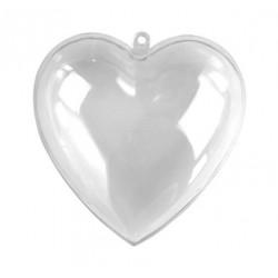 Coeur plastique 2 parties 8 cm