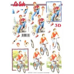Carte 3D à découper - vélos et skate