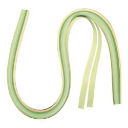 Papier pour quilling, vert/beige, 53x0,9