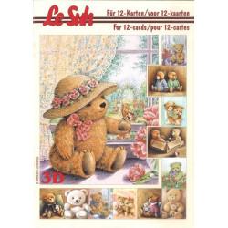 Carterie 3D LIVRE A5 - 12 cartes - Nounours